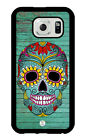 iZERCASE Samsung Galaxy S7, S4, Galaxy S5, Galaxy S6 Case. Sugar Skull On Wood