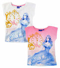 Girls Disney Princess Cinderella Short Sleeved Kids Tee Ages New 3 4 5 6 Years