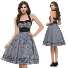 Vintage STYLE Rockabilly Dress Swing 1950s 60s Housewife Prom Retro Dress PARTY