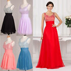 Super Cheap~ Beaded Formal Wedding Prom Party Bridesmaid Evening Ball Gown Dress
