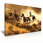 Cowboy Riding Horse Canvas Framed Print 3 ~ More Size