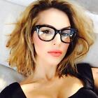 Wayfarer Square Key Hole Thick Frame Clear Lenses Eyeglasses Fashion Eyewear