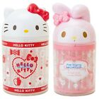 JAPAN HELLO KITTY MY MELODY HEAD SHAPE COTTON SWAB W/ STORAGE BOX