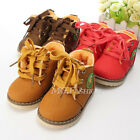 Baby Girls Boys Kids Martin Snow Boots Children Cotton Oxfords Winter Warm Shoes