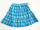 NWT: New OshKosh Blue Plaid Light Weight Summer Twirl Skirt, 2T or 3T, Rtls $22