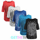 Womens Cut Out Tiger Print Top Ladies Plus Size Animal Print Baggy Loose Top