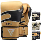RDX Leather Sparring Gloves Boxing Kick Boxing Combat Training Punch Bag MMA WBR