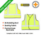 YELLOW HI VIS VEST Breathable Fabric DAY and NIGHT ** Ships from Sydney