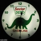 SINCLAIR DINO DINOSAUR Gasoline Lighted Clock Backlit Sign Light Oil Gas Station
