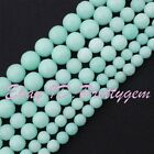 ROUND FACETED AMAZONITE JADE GEMSTONE FOR DIY JEWELRY MAKING SPACER BEADS 15""