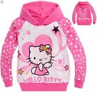 New Kids Girls hello Kitty Printed Hooded Cotton Longsleeved Top 1-5yrs