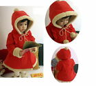 Baby Girls Winter Coat Jacket 6M-5Y Warm Snowsuit Padded Clothing Fleece Outwear