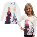 Girls Anna Elsa Top Frozen 2-3 Years Long Sleeved Olaf Tee Cotton T Shirt