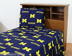 Michigan Wolverines Sheet Set Twin Full Queen King Size