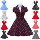 Vintage Style Rockabilly 50s 60s Pinup Housewife Evening Party Swing DANCE Dress