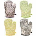 TALLY STRIPE SINGLE OVEN MITT 100% COTTON EXTRA THICK GREY YELLOW GREEN