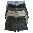 12 x Mens Natural Cotton Blend Button Fly Jersey Boxer Shorts Underwear Boxers