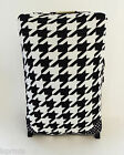 DOGTOOTH PRINT BLACK & WHITE DESIGN SUITCASE COVER EASILY IDENTIFY YOUR CASE
