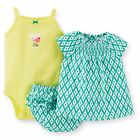 NEW NWT Carter's Girls 3 Piece Diaper Cover Set 3 6 9 12 18 or 24 Months