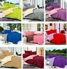 New Soft Solid Bed Doona Duvet Quilt Cover And Pillowcase Set