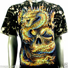 Survivor T-Shirt Biker Fire Skull Dragon Tattoo S121 Sz M L XL XXL 3XL mma Studs