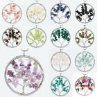 Gemstone Crystal Stone Healing Reiki Wire Wrap Tree of Life Pendant Fit Necklace