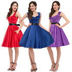 50s 60's Rockabilly Vintage Retro Cocktail Evening Full Circle Swing Pinup Dress