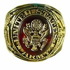 Made in USA New 18KTGP U S Army Signet Ring-Military-Sizes 7-15