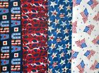 PATRIOTIC #2 Fabrics, Sold Individually, Not As a Group, By The Half Yard