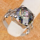 Alluring  Rainbow Topaz GEMSTONES Silver Jewelry Ring Size6 /7 /8 /9 T7118