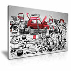 VW Golf Breaking Parts Canvas Wall Art Picture Print ~ More Size
