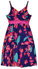 Girls Vibrant Floral Summer Dress New Kids V-Neck Cotton Dresses ages 2-6 Years