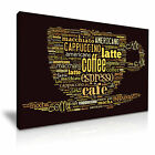COFFEE CAFE Collage Canvas Wall Art Picture Print ~ More Size