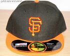 New Era Flat Peak Cap San Francisco Giants 5950 Fitted Hats 59fifty Brim Caps