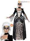 Ladies Gothic Black Widow Spider Halloween Masquerade Fancy Dress Costume Womens