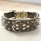 NEW Spiked Studded Rivets Leather Big Dog Collar Pitbull Terrier Boxer S M L XL