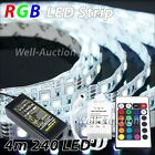 4m 5050 IP20 240 SMD LED RGB Strip + 24 Key Remote Controller + UK Power Supply