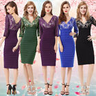 Ever Pretty 3/4 Sleeve V-neck Lace Party Winter Autumn Halloween Dresses 03783