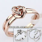 A1-R277 Fashion Love Heart In Heart Set Ring 18KGP Size 5.5-8