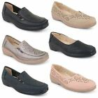 Womens Ladies Casual Office Work Wedge Heel Loafer Pumps Moccasins Shoes Size