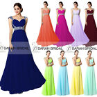 Beaded Strap Wedding Party Bridesmaid DressesProm Evening Women's Long Plus Gown