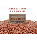4.5 mm / 0.177 BB BALLS PREMIUM STEEL COPPER PISTOL RIFLE AIR METAL PELLET BBS
