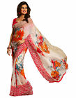Triveni fancy Good-looking Multi Colored Printed Faux Georgette Saree
