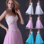 Womens Long Formal Masquerade Evening Wedding Bridesmaid Gown Prom Party Dress