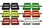eXotic Thermoplastic Flat BMX MTB Pedals, 6 Colours 350 g/pair Replaceable Pins