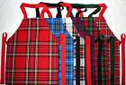 CUTE SCOTTISH TARTAN APRONS.SMALL CHILD 18 Months to 3 years. Made in Scotland