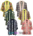Vintage Floral Loose Shawl Kimono Boho Chiffon Cardigan Coat Jacket Cover Up