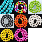 "10MM Howlite Turquoise Gemstone Round Loose Beads Spacer 15 1/2 "" Strand SBG011"