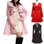 Womens Peacoat Ladies Overcoat Fashion Trendy Elegant Clothing Coat AU sz 6-14
