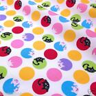 per 1/2 metre/FQ hide & seek cats & pigs dressmaking/craft fabric 100% COTTON
